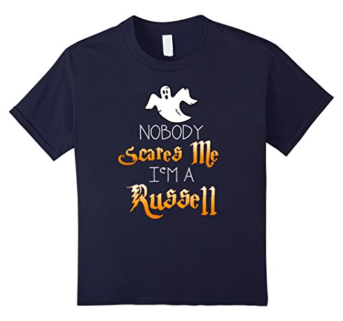 Kids Nobody Scares Me Im a Russell Halloween Shirt 12 Navy (Up Russell Girl Costume)