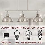 """Kira Home Belle 34"""" 3-Light Modern Industrial"""