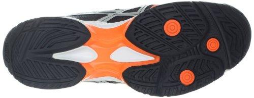 Scarpa Da Tennis Velocità Asics Uomo Gel-solution Nero / Arancio Neon / Argento