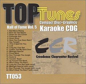 Top Tunes Karaoke CDG TT-053 Hall of Fame Vol. 5 Creedence Clearwater Revival (Top Tunes Karaoke)