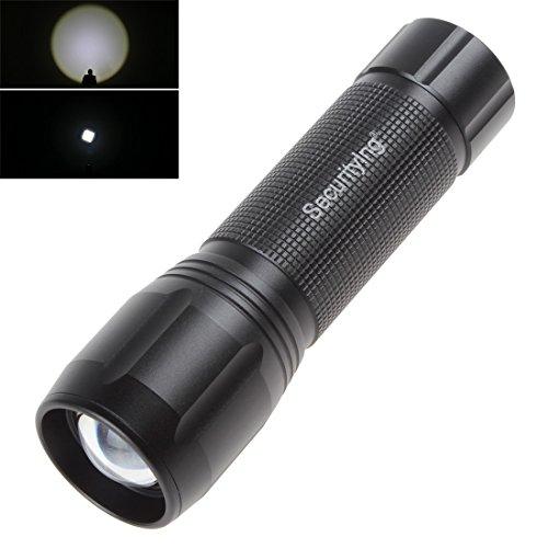 SecurityIng® Zoomable 5W 270LM XPG2 LED 3 Modi Wasserdicht Taschenlampe mit 3 x AAA Batterien