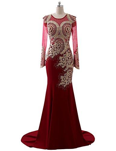 Beaded Slim Evening Gown - 8