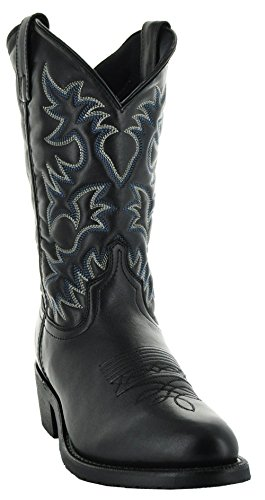 Traditional Western Work Boots - Soto Boots Round Toe Western Men's Boots H3001 (12, Black)