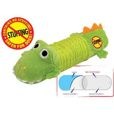 New – Stuffing Free Big Squeak Gator by Petstages, My Pet Supplies