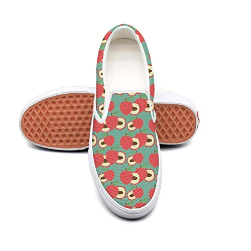 Lace-Free Canvas Cute Lychee Fruit Pattern Women's Sneakers Comfortable Flat Best Skateboarding Shoes