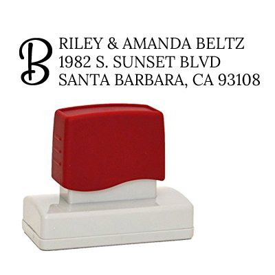 Monogram Return Address Stamp, Rubber Stamp, Self-Inking Stamp Customized with Your Return Address