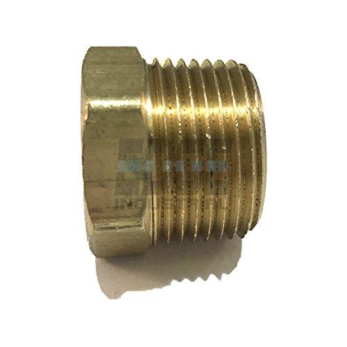 (EDGE INDUSTRIAL Brass Solid Head HEX Plug 3/4