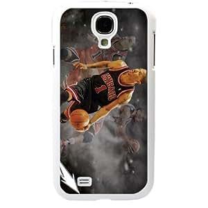 Wishing NBA Chicago Bulls Derrick Rose Samsung Galaxy S4 SIV I9500 TPU Soft Black or White case (White)