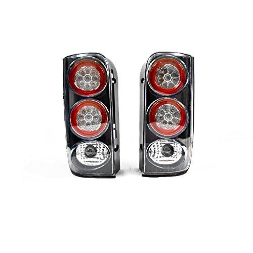 100系 ハイエース バン ワゴンユーロタイプ LED テール ライト 左右 セット 【ブラック】 B07C594WZB