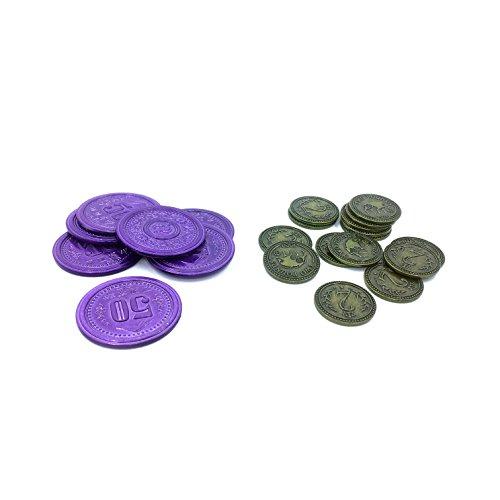 2緑とドル50パープルメタルコインPromos For Scythe theボードゲーム