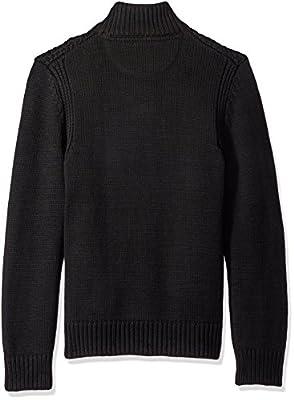 Calvin Klein Jeans Men's Racked Quarter Button Sweater