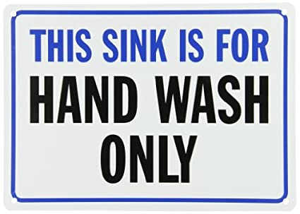 SmartSign Plastic Sign, Legendu0026quot;This Sink Is For Hand Wash Onlyu0026quot;,  10u0026quot