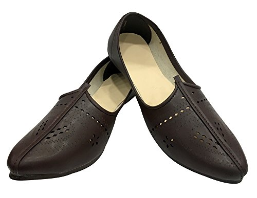 Step n Style Mens Brown Mojari Jalsa Shoes Ethnic Casual Shoes Sherwani Shoes Jooti Z3owZ9e