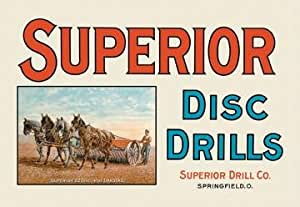 Superior Disc Drills 12x18 Giclee On Canvas
