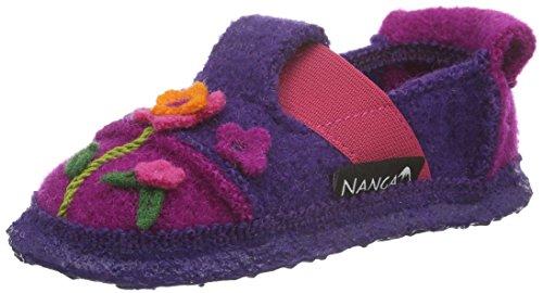 Nanga Mädchen Flower Bed Flache Hausschuhe Violett (pflaume / 49)