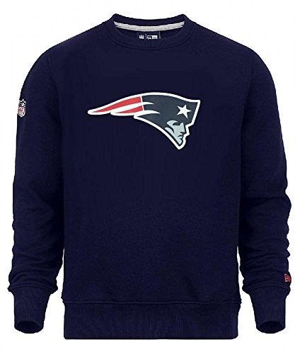New Era New England Patriots NFL On FIeld Crewneck Sweater Pullover M L XL XXL(L,Navy)
