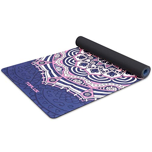TOPLUS Yoga Mat - Non Slip Eco Friendly Exercise & Fitness Mat with Carrying Strap for All Types of Yoga, Pilates and Floor Exercises (1/4-1/8 inch)
