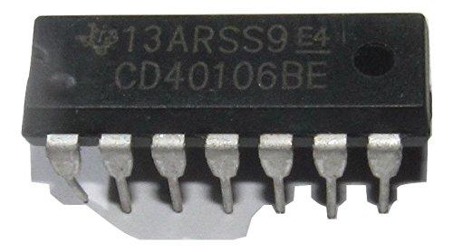 100Pcs CD40106 CD40106BE 40106 Hex Schmitt Trigger fr