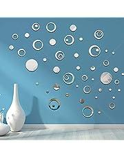 CUNYA 3D Acryl Ronde Spiegel Kamer Decor Muurstickers, Verwijderbare DIY Cirkel Behang Muur Art Decals voor Venster, Woonkamer, Badkamer Decor