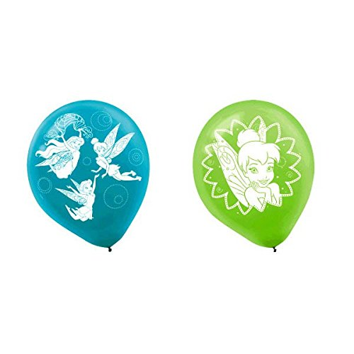 Tinkerbell Decorations (Disney Tinkerbell Birthday Party Latex Balloons (6 Pack), Blue/Green, 12