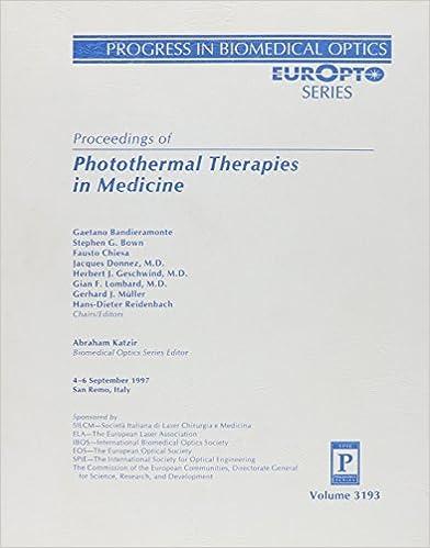 Téléchargements gratuits de livres électroniquesPhotothermal Therapies in Medicine (Progress in biomedical optics) ePub