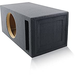 "2.0 Cu. Ft. Ported / Vented MDF Sub Woofer Enclosure for Single 12"" Car Subwoofer (2.0 ft^3 @ 32Hz) Made in U.S.A."