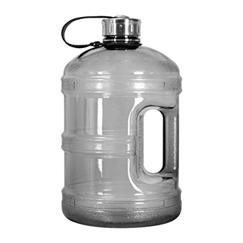1 Gallon BPA FREE Reusable Plastic Drinking Water Bottle w/ Stainless Steel Cap