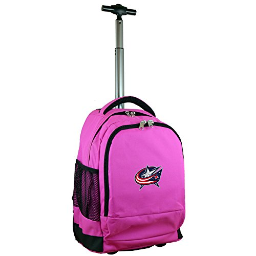 Denco NHL Columbus Blue Jackets Expedition Wheeled Backpack, 19-inches, Pink