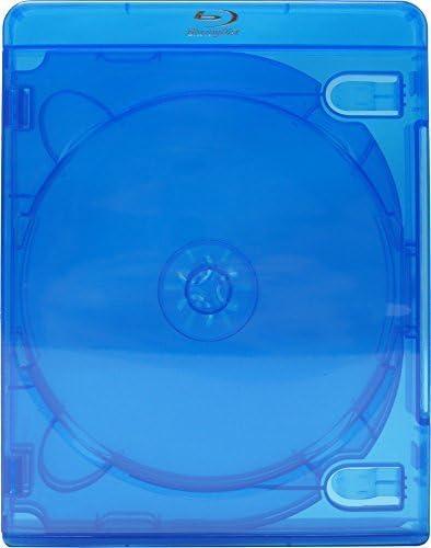 Caja de repuesto vacía para películas Blu-Ray, 22 mm de grosor, capacidad para 5 discos, color azul, modelo BR5R22BL, 1 unidad: Amazon.es: Electrónica