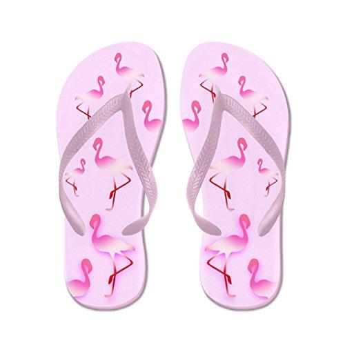 Lplpol Pink Sugar Flamingo Sandals Flip Flops for Kids M with Pink Flip Flops Belt ()