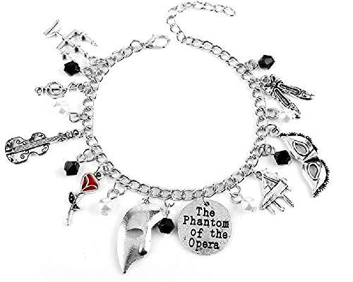 Blingsoul Phantom of The Opera Charm Bracelet - Broadway Musical Soundtrack Christmas Jewelry Merchandise Gifts Women