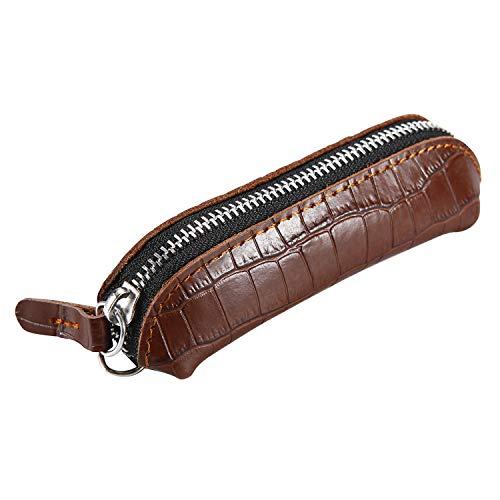 Vanstart Genuine Leather Squeeze Coin Purse Pouch For Men & Women (Brown-Crocodile Pattern)