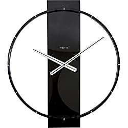 Unek Goods NeXtime Carl Wall Clock | Wood and Metal | 20 | Black | Battery Operated