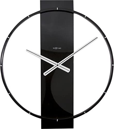 NEXTIME Unek Goods Carl Wall Clock | Wood and Metal | 20"