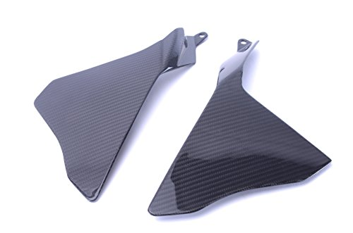 (Bestem Carbon Fiber Middle Side Panels Upper ECU Covers Fairings Twill for 2015-2018 Yamaha R1 R1M R1S)