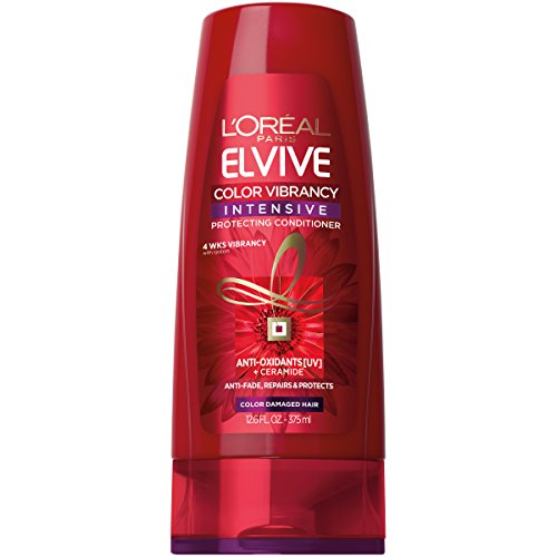 Color Protecting Leave - L'Oréal Paris Elvive Color Vibrancy Intensive Protecting Conditioner, 12.6fl.oz.(Packaging May Vary)