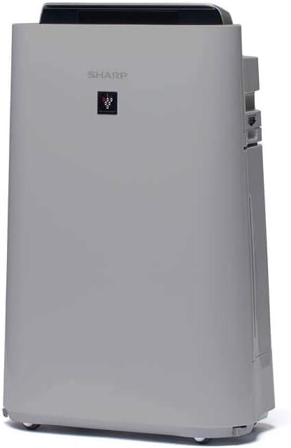 Sharp UA-HD50E-L Purificador de aire con tecnología Plasmacluster-Ion, función humificador, tres niveles de filtro: prefiltro, olores y HEPA, sensor de olor, polvo, humedad y temperatura, hasta 38 m2