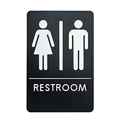 Amazon Unisex Restroom Sign ADACompliant Bathroom Door Sign Fascinating Unisex Bathroom