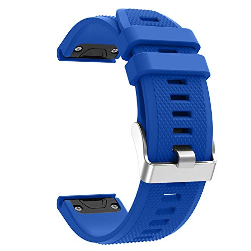 Fit for Garmin Fenix 6 Pro Watch Bands, Forerunner 945/935 Bands, 22mm Easy Fit Silicone Replacement Band Straps Wristband Fit for Garmin Fenix 5 Plus Women Men (Blue Green)
