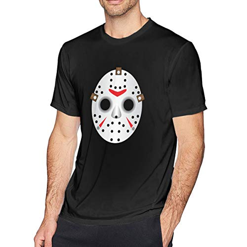 Houxiaojun The Many Moods of Jason Voorhees Mask Men Comfort Tee Black 5XL -