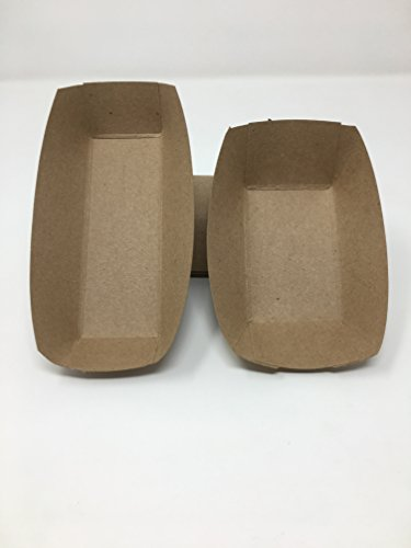 Mr. Miracle Franks and Fries Food Tray Set. Kraft Paper. 1/2 Pound Food Tray and Hot Dog Tray Set. Pack of 20 Sets. Made in USA]()