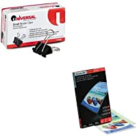 KITSWI3740473UNV10200 - Value Kit - Swingline Fusion EZUse Premium Laminating Pouches (SWI3740473) and Universal Small Binder Clips (UNV10200)