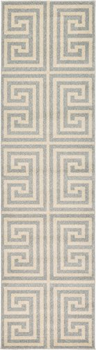 "Cheap A2Z Rug Modern Contemporary Area Rug Geometric Gray 2′ 7"" x 10′ FT Santorini Collection Rugs – rugs for living room – rugs for dining room & bedroom – Floor Carpet"