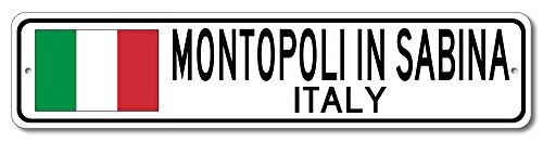 The Lizton Sign Shop Montopoli In Sabina, Italy Aluminum Italian Flag Sign, Italy Custom Flag Sign - 4