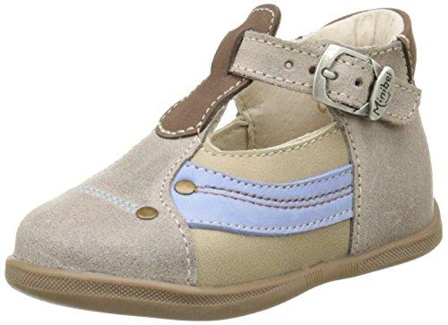 Minibel Karting - Zapatos de primeros pasos Bebé-Niñas Beige - Beige (17 Mastic/Taupe)