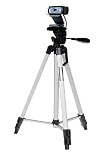53 inch Camera Tripod Mount Holder Stand for Logitech Brio 4K, C925e,C922x,C922,C930e,C930,C920,C615 Webcam (Silver)