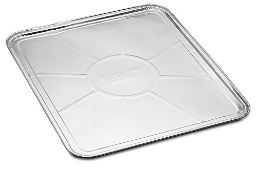 Gas Range Roll Out Drop - 10-Pack Disposable Foil Oven Liners by DCS Deals - Keep Your Oven Clean and Healthy - Perfect Silver Foil Drip Pan Tray for Cooking, Baking, Roasting, and Grilling- 18.5 x15.5