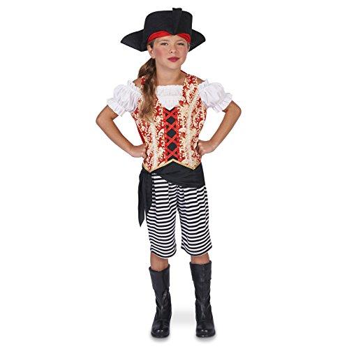 Pirate Girl Child Dress Up Costume M (8-10) -