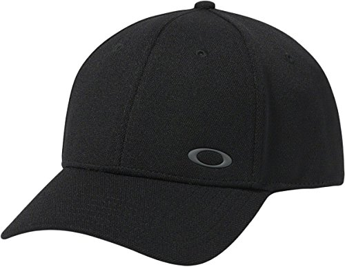 Oakley Men's Silicon Ellipse, Jet Black, - Hat Black Oakley