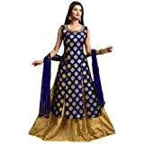 Hirva Collections Women's Jequard Silk Western Gown